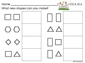 Go Math Chapter Nine K Activity Sheets