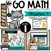 GoMath Centers, Chapter 1-Addition Concepts,Printable & Distance Learning