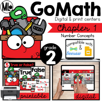 Second Grade Math Centers,Number Concepts, Chapter 1
