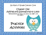 Go Math Chapter One Grade 3 Activity Sheets