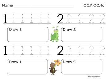 Go Math Chapter One K Activity Sheets