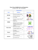 Go Math - Chapter One- Vocabulary Guided Notes