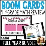 Distance Learning   4th Grade Test Prep Digital Boom Card BUNDLE