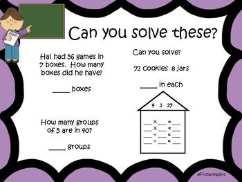 Go Math Chapter Six Focus Wall Grade 3
