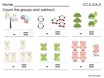 Go Math Chapter Six K Activity Sheets