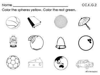 Go Math Chapter Ten K Activity Sheets