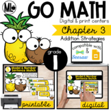 GoMath-First Grade Math Centers, Addition Strategies, Chapter 3