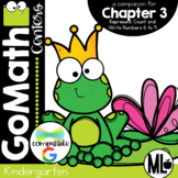 GO Math-Kinder Math Centers,Represent,Count and Write Numbers  6 to 9, Chapter 3
