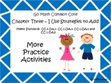 Go Math Chapter Three More Activities Grade 1