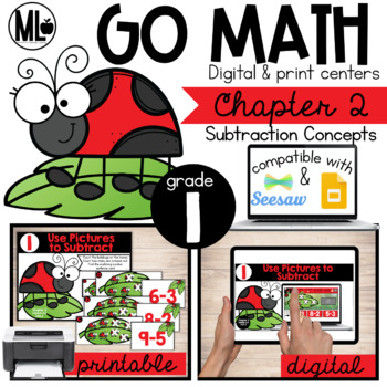 Go Math-First Grade Math Centers, Subtraction Concepts, Chapter 2
