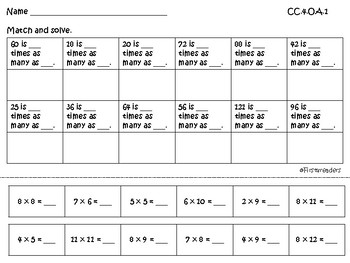 Go Math Chapter Two Grade 4 Activity Sheets