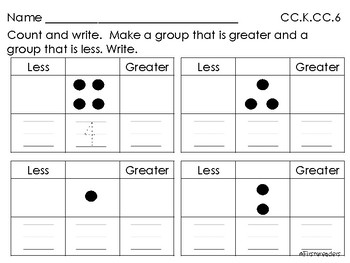 Go Math Chapter Two K Activity Sheets