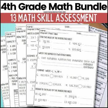Go Math Grade 4 Math Chapters 1-12 Task Card Games Bundle