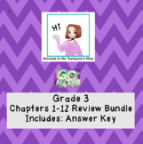Go Math Chapters 1 - 12 Review Bundle