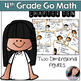 Go Math Chapters 9-12 4th Grade Math Task Card Games Bundle
