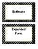 Fourth Grade Go Math, Common Core Aligned, Vocabuary Cards with Definitions