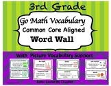 Go Math Common Core Aligned Vocabulary Cards (3rd Grade)