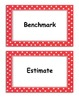 Fifth Grade Go Math, Common Core Aligned, Vocabulary Cards and Definitions