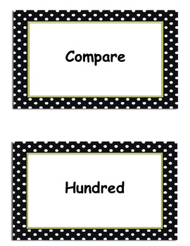 Second Grade Go Math, Common Core Aligned, Vocabulary Cards with Definitions