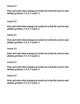 Go Math Common Core Journal Performance Tasks Ch. 3