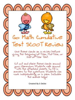 Go Math Cumulative Test SCOOT Review