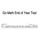 Go Math End of Year Tracking Sheet