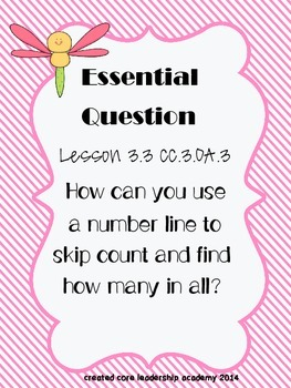 """Go Math """"Essential Question""""~ Chapter 3"""
