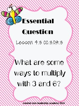 "Go Math ""Essential Question"" Chapter 4"