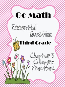 """Go Math """"Essential Question"""" Chapter 9"""