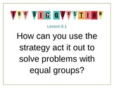 Go Math Essential Question Posters Ch 6