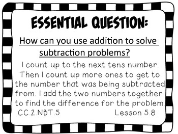 Second Grade Go Math Essential Questions Chapter 5