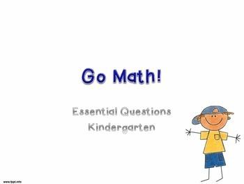 Go Math! Essential Questions FlashCards K