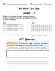 Go Math Exit Slip Lesson 1.2