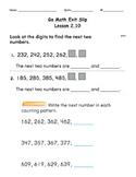 Go Math Exit Slip Lesson 2.10