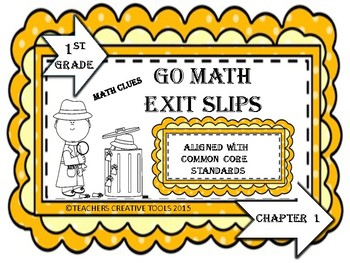 Go Math Exit Slips Chapter 1 First Grade