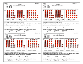 Go Math Exit Slips Chapter 1 Second Grade