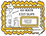 Go Math Exit Slips Chapter 3 First Grade