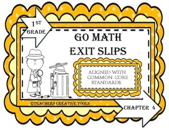 Go Math Exit Slips Chapter 4 First Grade