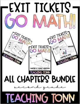 Go Math! Exit Ticket Bundle by TeachingTonn   Teachers Pay ...