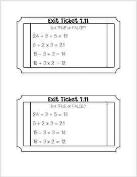 Go Math Exit Tickets BUNDLE
