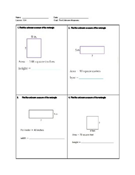 Go Math Exit Tickets-Ch 13