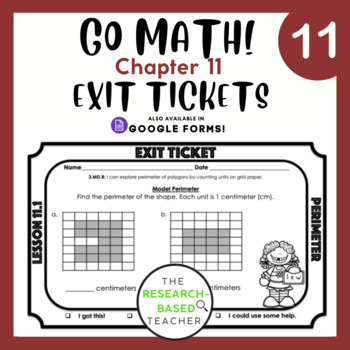Go Math! Exit Tickets- Chapter 11 (Updated)