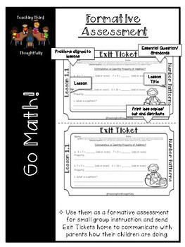 Go Math! Exit Tickets- Chapter 12