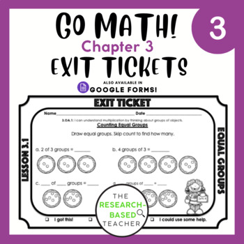 Go Math! Exit Tickets- Chapter 3