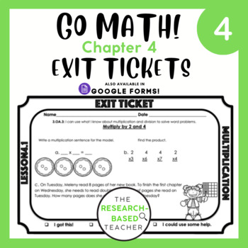 Go Math! Exit Tickets- Chapter 4 (UPDATED)