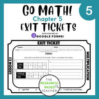 Go Math! Exit Tickets- Chapter 5