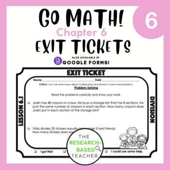 Go Math! Exit Tickets- Chapter 6