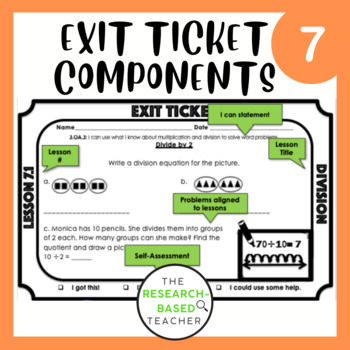 Go Math! Exit Tickets- Chapter 7 (Updated)