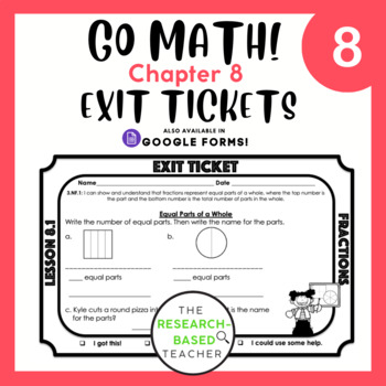 Go Math! Exit Tickets- Chapter 8