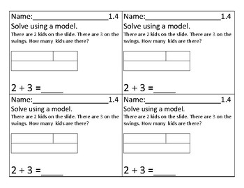 Go Math Exit tickets